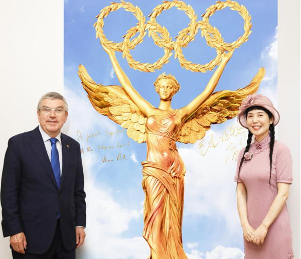 奥林匹克精神的伟大象征和标志——国际奥委会主席巴赫盛赞黄剑雕塑《奥运女神》